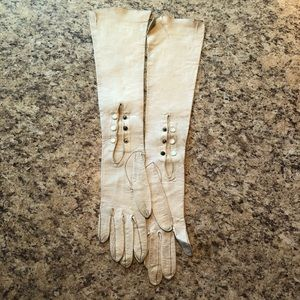 VTG Antique Leather Opera Gloves